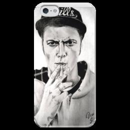 """Чехол для iPhone 5 глянцевый, с полной запечаткой """"Ник черников"""" - ник черников, nik chernikoff"""
