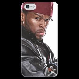 """Чехол для iPhone 5 глянцевый, с полной запечаткой """"50 Cent """" - 50 cent, 50cent, фифти"""