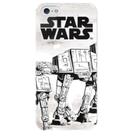 "Чехол для iPhone 5 глянцевый, с полной запечаткой ""Star wars"" - star wars, darth vader, дарт вейдер, storm trooper, walker"