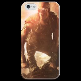 """Чехол для iPhone 5 глянцевый, с полной запечаткой """"Риддик / Riddick"""" - рисунок, кино, риддик"""