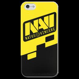 """Чехол для iPhone 5 глянцевый, с полной запечаткой """"Natus Vincere Logo (Yellow)"""" - игры, dota, dota 2, navi, natus vincere, дота, edward, киберспорт, dendi, markeloff"""