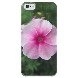 """Чехол для iPhone 5 глянцевый, с полной запечаткой """"Цветущая долина"""" - лето, алтай, горный алтай, цветущая долина, долина цветов"""