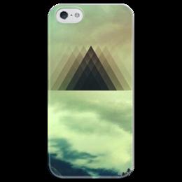 "Чехол для iPhone 5 глянцевый, с полной запечаткой ""Triangle"" - triangle, пирамида, pyramid"