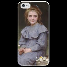 """Чехол для iPhone 5 глянцевый, с полной запечаткой """"Маргаритки (Pâquerettes)"""" - картина, бугро"""