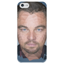 """Чехол для iPhone 5 глянцевый, с полной запечаткой """"Leonardo DiCaprio"""" - леонардо, лео, дикаприо, полигон"""