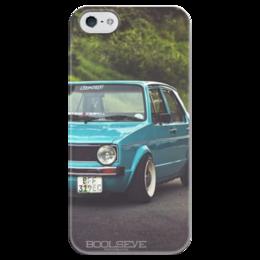 "Чехол для iPhone 5 глянцевый, с полной запечаткой ""golf mk1 "" - ретро, volkswagen, vw, фольксваген, golf, 70's"