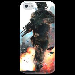 """Чехол для iPhone 5 глянцевый, с полной запечаткой """"Call of Duty"""" - call of duty, игры"""