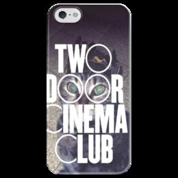 """Чехол для iPhone 5 глянцевый, с полной запечаткой """"Two Door Cinema Club"""" - арт, рисунок, indie rock, инди-рок"""