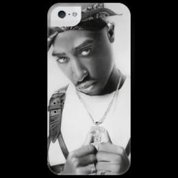 """Чехол для iPhone 5 глянцевый, с полной запечаткой """"2pac"""" - hip hop, 2pac, тупак шакур, tupac shakur"""