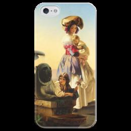 """Чехол для iPhone 5 глянцевый, с полной запечаткой """"Молодая мать"""" - картина, нефф"""