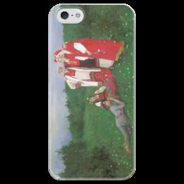 """Чехол для iPhone 5 глянцевый, с полной запечаткой """"Северная идиллия"""" - картина, коровин"""