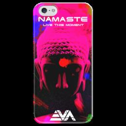 """Чехол для iPhone 5 глянцевый, с полной запечаткой """"Будда"""" - арт, buddha, будда, намасте, namaste"""