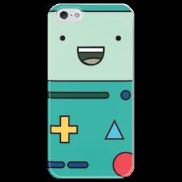 """Чехол для iPhone 5 глянцевый, с полной запечаткой """"Adventure time"""" - adventuretime, время приключений, bmo, бимо"""