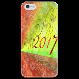 """Чехол для iPhone 5 глянцевый, с полной запечаткой """"Happy New Year """" - happy new year, новый год, new year, 2017, new year 2017"""