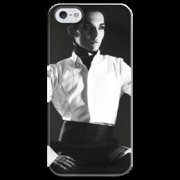 """Чехол для iPhone 5 глянцевый, с полной запечаткой """"Bill Kaulitz"""" - tokio hotel, bill kaulitz, токийский отель, билл каулитц"""