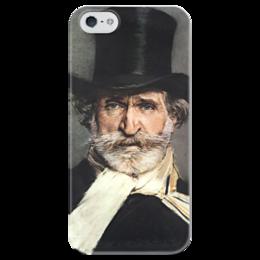 """Чехол для iPhone 5 глянцевый, с полной запечаткой """"Портрет Джузеппе Верди"""" - картина, больдини"""