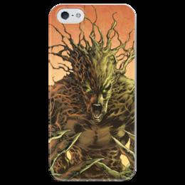 """Чехол для iPhone 5 глянцевый, с полной запечаткой """"Грут (Groot)"""" - комиксы, марвел, стражи галактики, грут, guardians of the galaxy"""