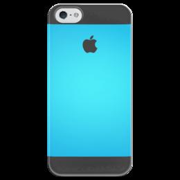 """Чехол для iPhone 5 глянцевый, с полной запечаткой """"Океан"""" - iphone, blue"""