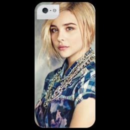 "Чехол для iPhone 5 глянцевый, с полной запечаткой ""Chloë Grace Moretz"" - хлоя морец"