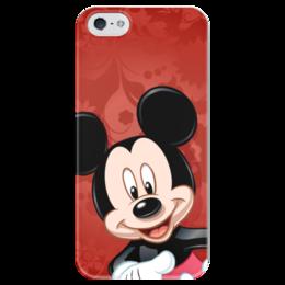 """Чехол для iPhone 5 глянцевый, с полной запечаткой """"Микки Маус мультяшный герой"""" - микки маус, мультяшка, mikki maus, мышонок микки, мультипликационный герой"""