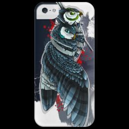 """Чехол для iPhone 5 глянцевый, с полной запечаткой """"Double-owls"""" - арт, сова, owls, owl, филин"""