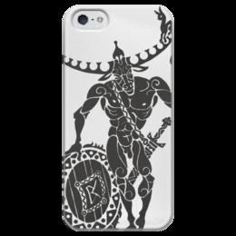 """Чехол для iPhone 5 глянцевый, с полной запечаткой """"Зевс и Европа"""" - любовь, счастье, оберег, символы счастья, символы любви"""