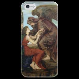 """Чехол для iPhone 5 глянцевый, с полной запечаткой """"Ангел Смерти (Эвелин де Морган)"""" - картина, морган"""