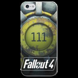 "Чехол для iPhone 5 глянцевый, с полной запечаткой ""Fallout 4 Shelter 111"" - fallout, fallout 4, shelter"