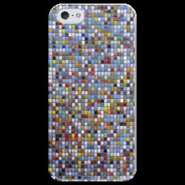 """Чехол для iPhone 5 глянцевый, с полной запечаткой """"Мозаика"""" - мозаика, mosaic"""