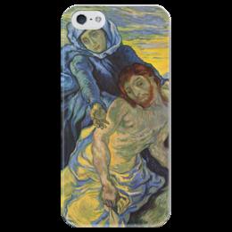 "Чехол для iPhone 5 глянцевый, с полной запечаткой ""Пьета (картина Ван Гога)"" - картина, ван гог"