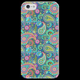 """Чехол для iPhone 5 глянцевый, с полной запечаткой """"Texture"""" - узоры, краски, яркость, текстура"""