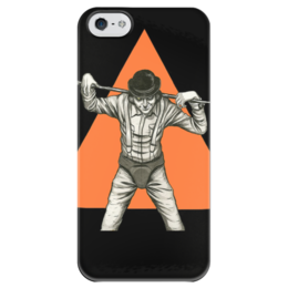 "Чехол для iPhone 5 глянцевый, с полной запечаткой ""Clockwork orange. Заводной апельсин"" - clockwork orange, заводной апельсин, кубрик, антиутопия, прикол"