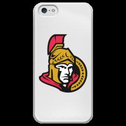 """Чехол для iPhone 5 глянцевый, с полной запечаткой """"Ottawa Senators"""" - хоккей, nhl, ottawa senators, канада, оттава"""