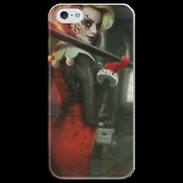 """Чехол для iPhone 5 глянцевый, с полной запечаткой """"Харли Квинн"""" - харли квинн, бэтмен, комиксы, джокер, harley quinn"""