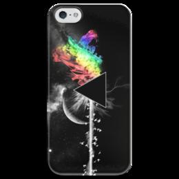 """Чехол для iPhone 5 глянцевый, с полной запечаткой """"Pink Floyd """" - pink, пинк флойд, pink floyd, психоделический рок, floyd"""