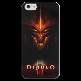 """Чехол для iPhone 5 глянцевый, с полной запечаткой """"Diablo 3"""" - blizzard, diablo, diablo 3"""