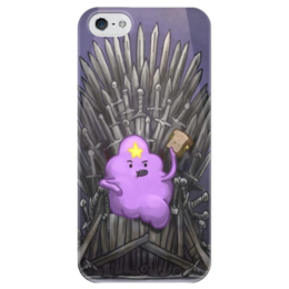 "Чехол для iPhone 5 глянцевый, с полной запечаткой ""Принцесса пупырка"" - adventure time, время приключений, принцесса пупырка"