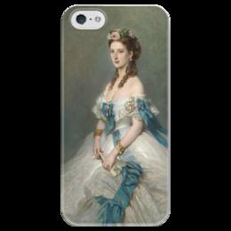 """Чехол для iPhone 5 глянцевый, с полной запечаткой """"Александра, принцесса Уэльская"""" - картина, винтерхальтер"""