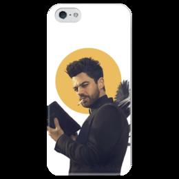 """Чехол для iPhone 5 глянцевый, с полной запечаткой """"Пастырь"""" - комиксы, dc comics, preacher, проповедник"""