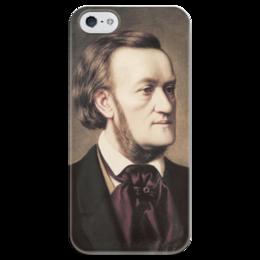 """Чехол для iPhone 5 глянцевый, с полной запечаткой """"Портрет Рихарда Вагнера"""" - картина, виллих"""