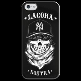 """Чехол для iPhone 5 глянцевый, с полной запечаткой """" La Coka Nostra"""" - музыка, la coka nostra"""