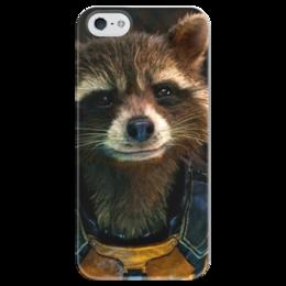 """Чехол для iPhone 5 глянцевый, с полной запечаткой """"Енот Ракета"""" - marvel, стражи галактики, rocket raccoon, guardians of the galaxy, енот ракета"""
