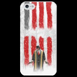"""Чехол для iPhone 5 глянцевый, с полной запечаткой """"Восьмерка - Охотник за головами"""" - tarantino, тарантино, майор, омерзительная восьмерка, сэмюэль джексон"""