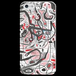 """Чехол для iPhone 5 глянцевый, с полной запечаткой """"Mamewax"""" - арт, узор, абстракция, фигуры, медитация"""