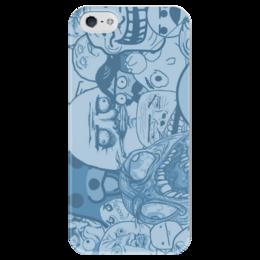 """Чехол для iPhone 5 глянцевый, с полной запечаткой """"Тролл"""" - мультик, троллфейс, тролл"""