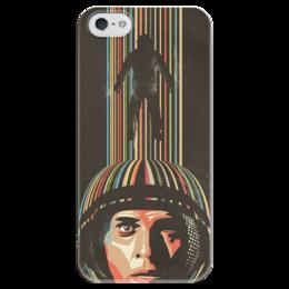 """Чехол для iPhone 5 глянцевый, с полной запечаткой """"Interstellar"""" - арт, кино, фильм, интерстеллар, interstellar"""