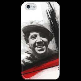 """Чехол для iPhone 5 глянцевый, с полной запечаткой """"треш полька"""" - тату, юрий никулин, треш полька, trash polka"""