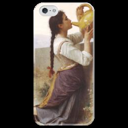 """Чехол для iPhone 5 глянцевый, с полной запечаткой """"Жажда (La Soif)"""" - картина, бугро"""