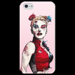 """Чехол для iPhone 5 глянцевый, с полной запечаткой """"Харли Квинн"""" - комиксы, джокер, бэтмен, harley quinn, dc comics"""