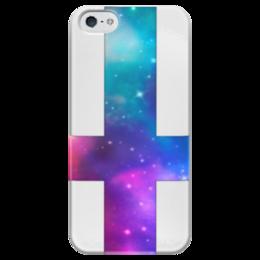 "Чехол для iPhone 5 глянцевый, с полной запечаткой ""Нет Бога"" - бога нет"